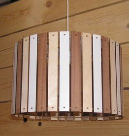Houten hanglamp naturel - Copy
