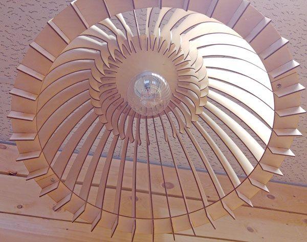 """Houten hanglamp naturel """"Daan"""" XXL"""