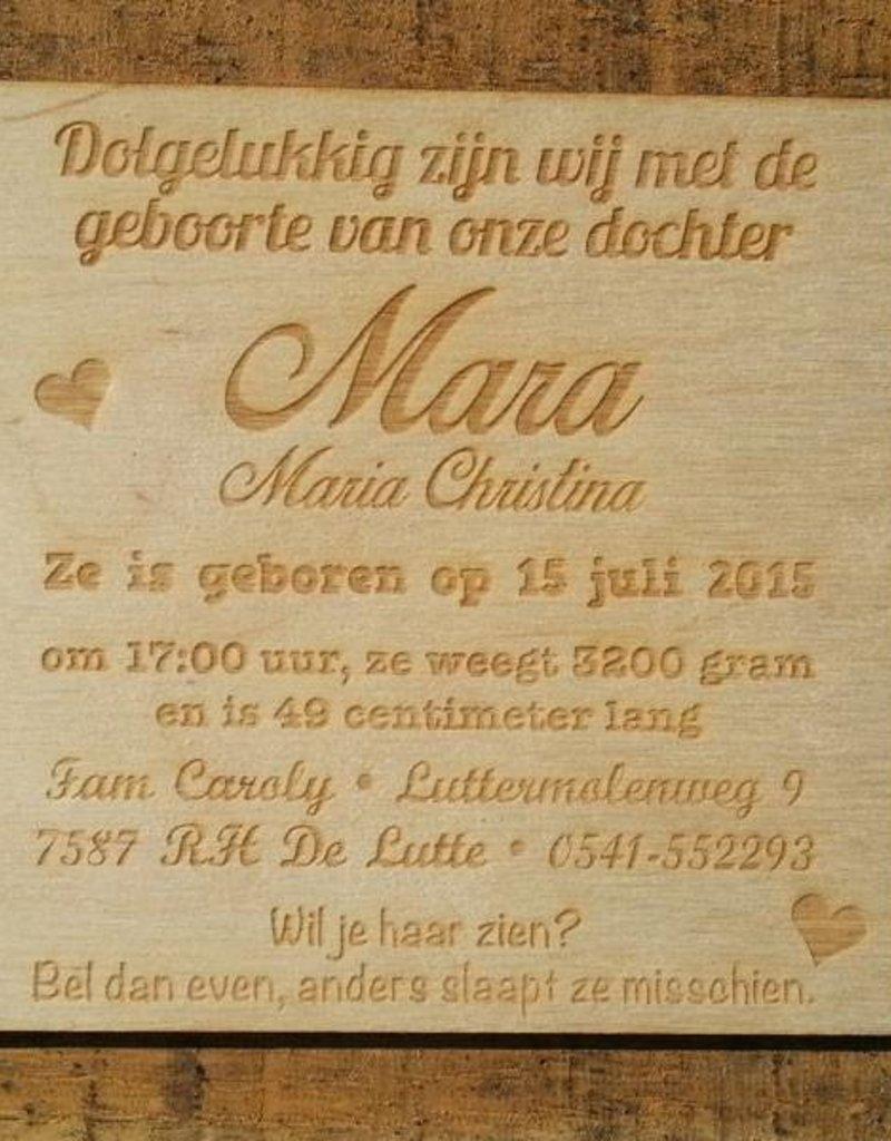 Quadro Girl houten kaart
