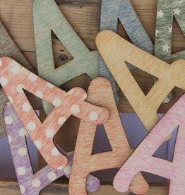 Houten letters sloophout 11cm