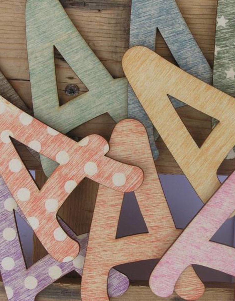 Houten letters/cijfers sloophout 11cm