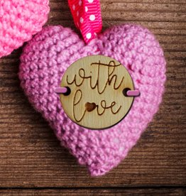 Knoop 2cm With love, set van 5