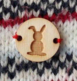 Knoop 2cm  bunny, set van 5