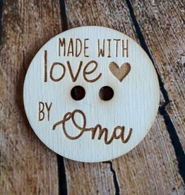 "Knoop ""made with love by oma"""