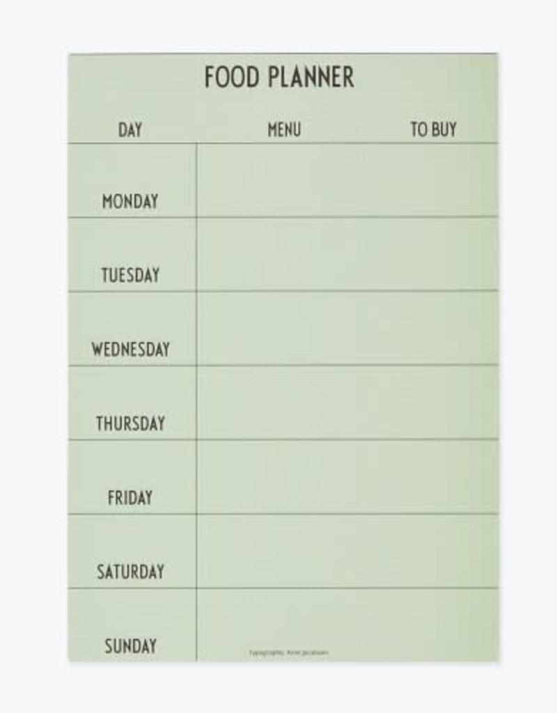 Design Letters Weekly Food Planner