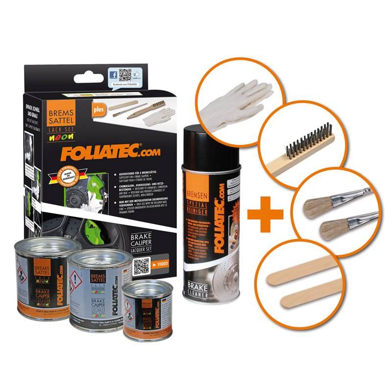 Foliatec Foliatec Remklauwlakset - NEON oranje - 4 Komponenten