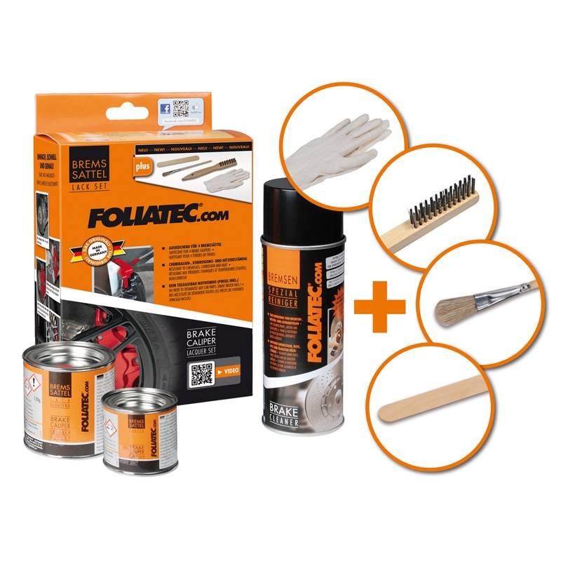 Foliatec Foliatec Remklauwlakset - flame oranje - 3 Komponenten