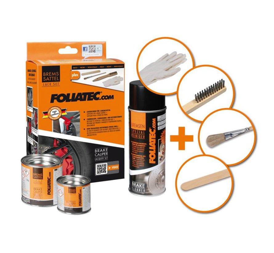 Foliatec Remklauwlakset - pure wit - 3 Komponenten