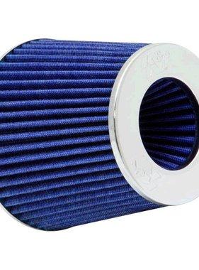Autostyle K&N RG-Serie universeel vervangingsfilter met 3 aansluitdiameters Blauw (RG-1001BL)