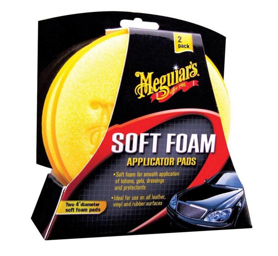 Meguiars Soft Foam Applicator Pads - Diameter 10.2cm, Set a 2 stuks