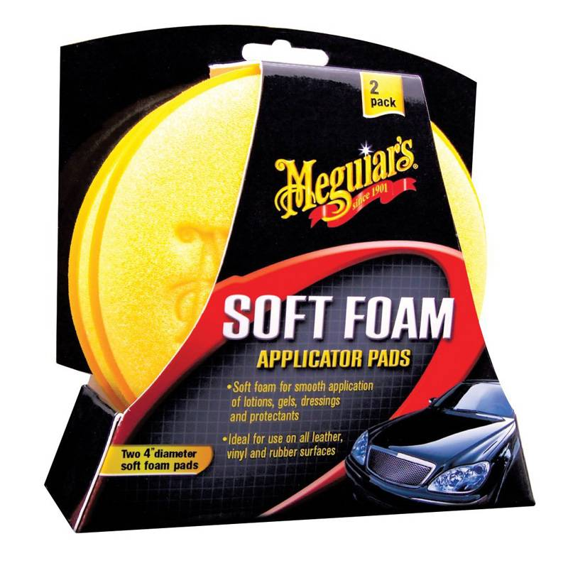 Meguiars Meguiars Soft Foam Applicator Pads - Diameter 10.2cm, Set a 2 stuks