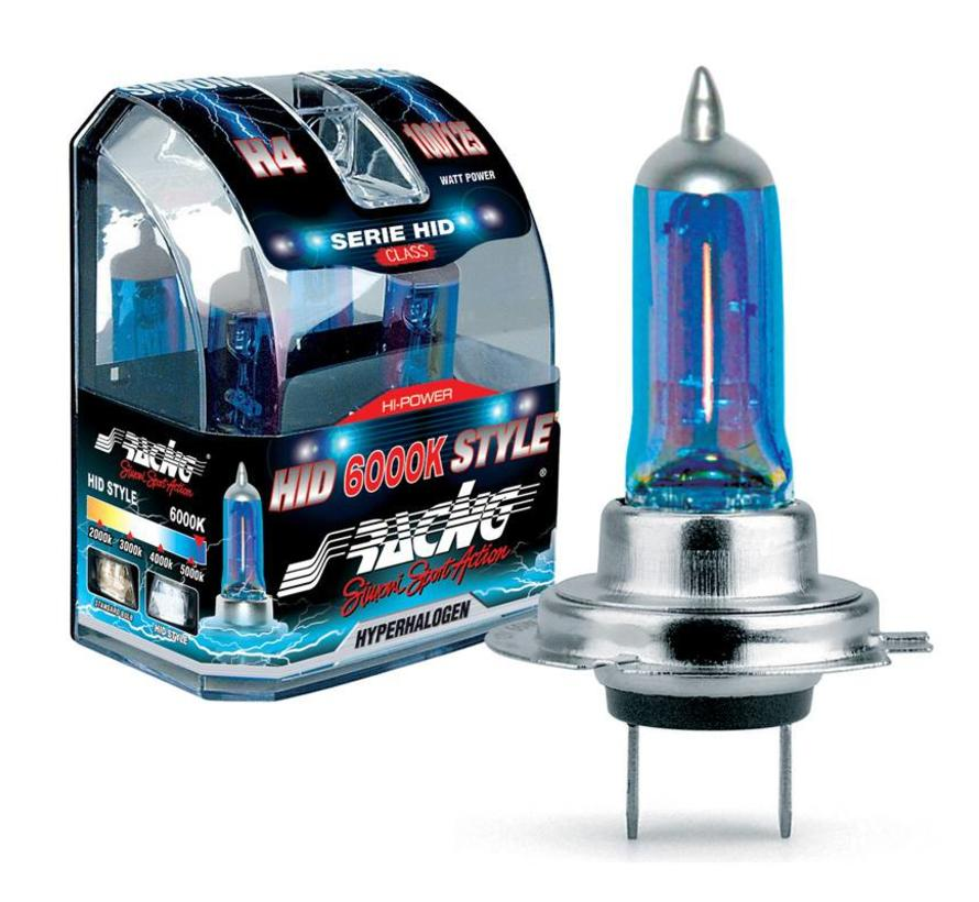 Simoni Racing Halogeen Lampen 'HID Style' H7 (6000K) Hyperwhite 12V/55W, set a 2 stuks ECE-R37