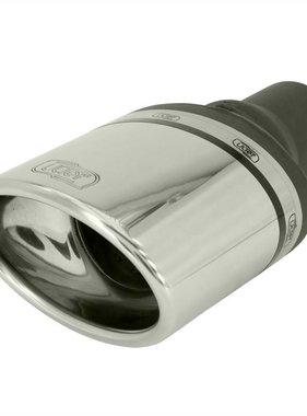 Autostyle Ulter Sport Uitlaatsierstuk (links) - Ovaal 120x80mm - Lengte 120mm - Montage ->50mm - RVS