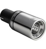 Autostyle Ulter Sport Uitlaatsierstuk - Rond O80mm - Lengte 120mm - Montage ->50mm - RVS
