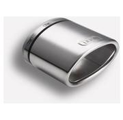 Autostyle Ulter Sport Uitlaatsierstuk - Ovaal 120x80mm Schuin - Lengte 120mm - Montage 50-65mm - RVS