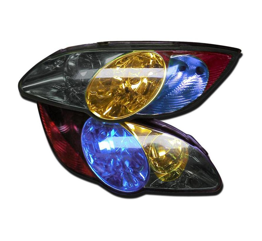Koplamp-/achterlicht folie - Mat Zwart - 1000x30 cm