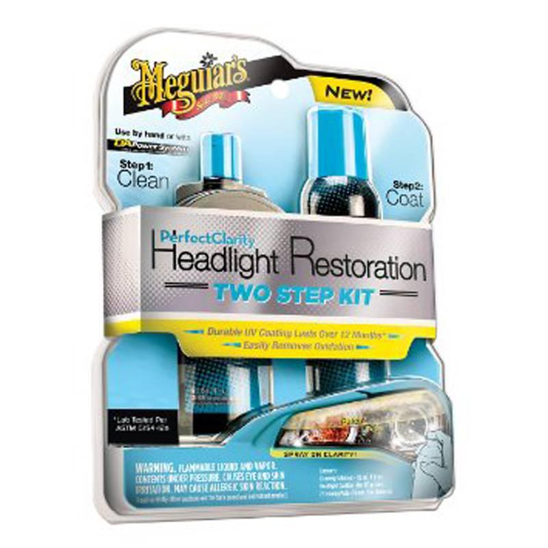 Meguiars Meguiars Perfect Clarity Headlight Restoration Kit (118ml Cleaner/188ml Coating/2 Pads)