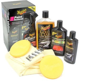 Meguiars Meguiars Ultimate Paint Restoration Kit (Quik Wax/Detailer/Compound/Carnauba Wax/Accessoires)
