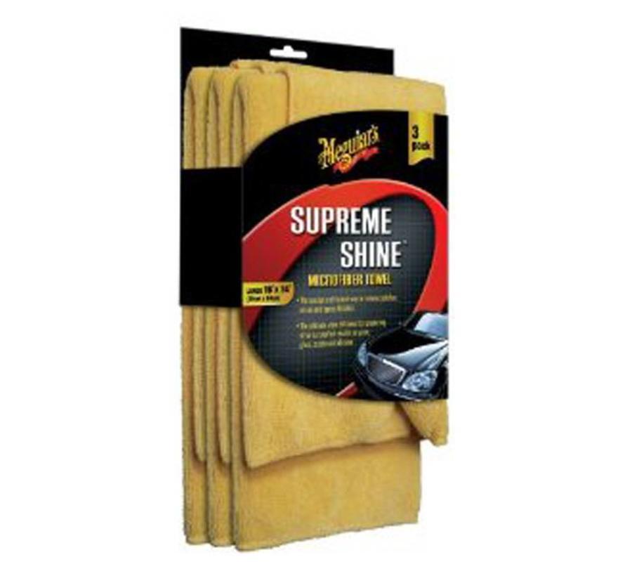 Meguiars Supreme Shine Microfiber 40.6x40.6cm, set a 3 stuks