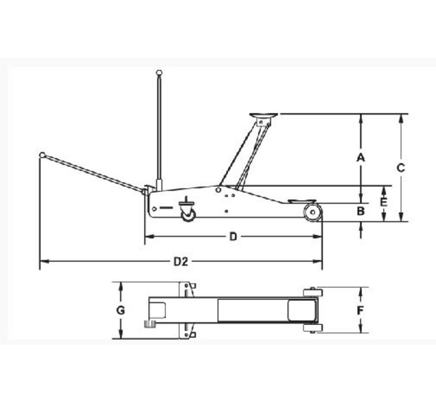 Aluminium garage rolkrik 1,3 ton Rodcraft RH135