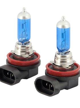 Autostyle SuperWhite Blauw H11 55W/12V/4800K Halogeen Lampen, set a 2 stuks (E4)