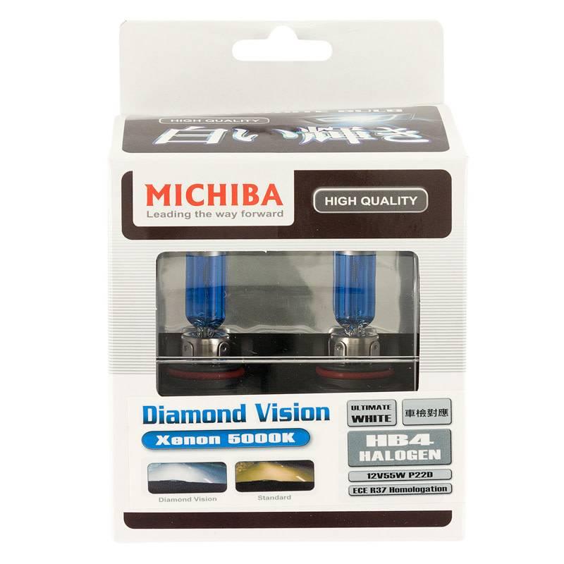 Autostyle SuperWhite Blauw HB4 (9006) 55W/12V/4800K Halogeen Lampen, set a 2 stuks (E13)