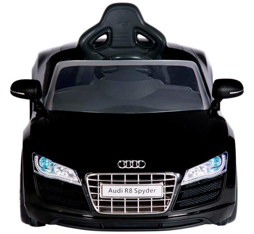 Accu-Auto Audi R8 Zwart - 6V - incl. MP3 en afstandsbediening - vanaf 3 jaar