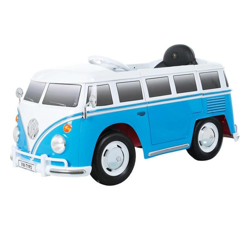 OSP Accu-Auto Volkswagen Transporter T1 Blauw/Wit - 12V - incl. MP3 en afstandsbediening - vanaf 3 jaar