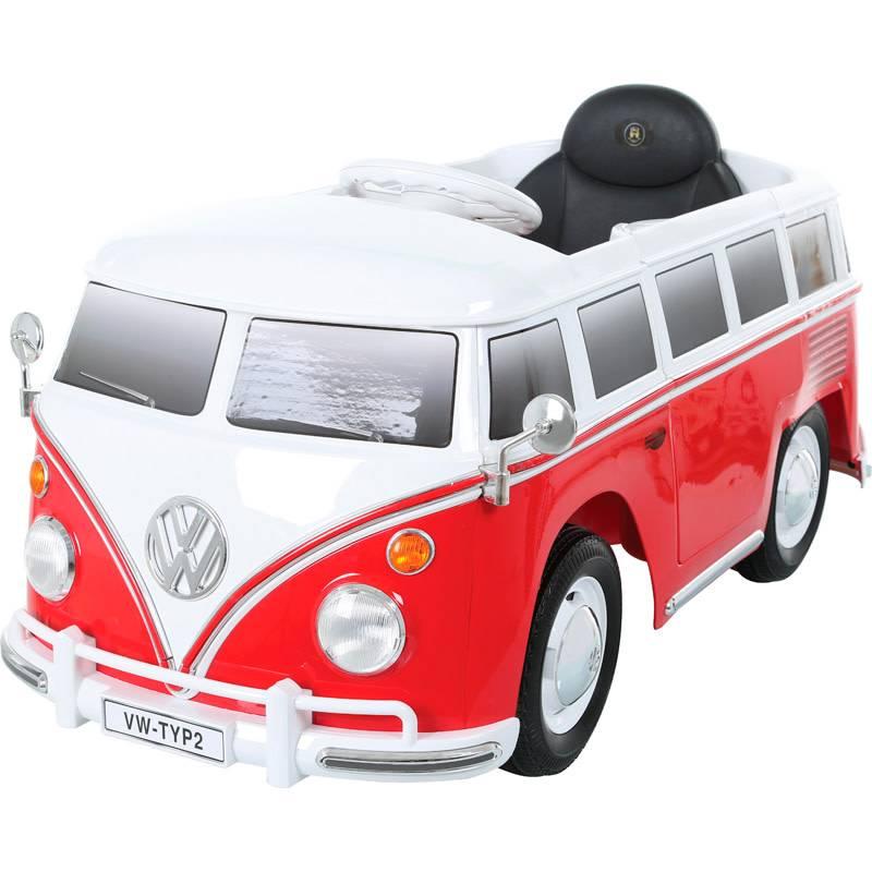 OSP Accu-Auto Volkswagen Transporter T1 Rood/Wit - 12V - incl. MP3 en afstandsbediening - vanaf 3 jaar