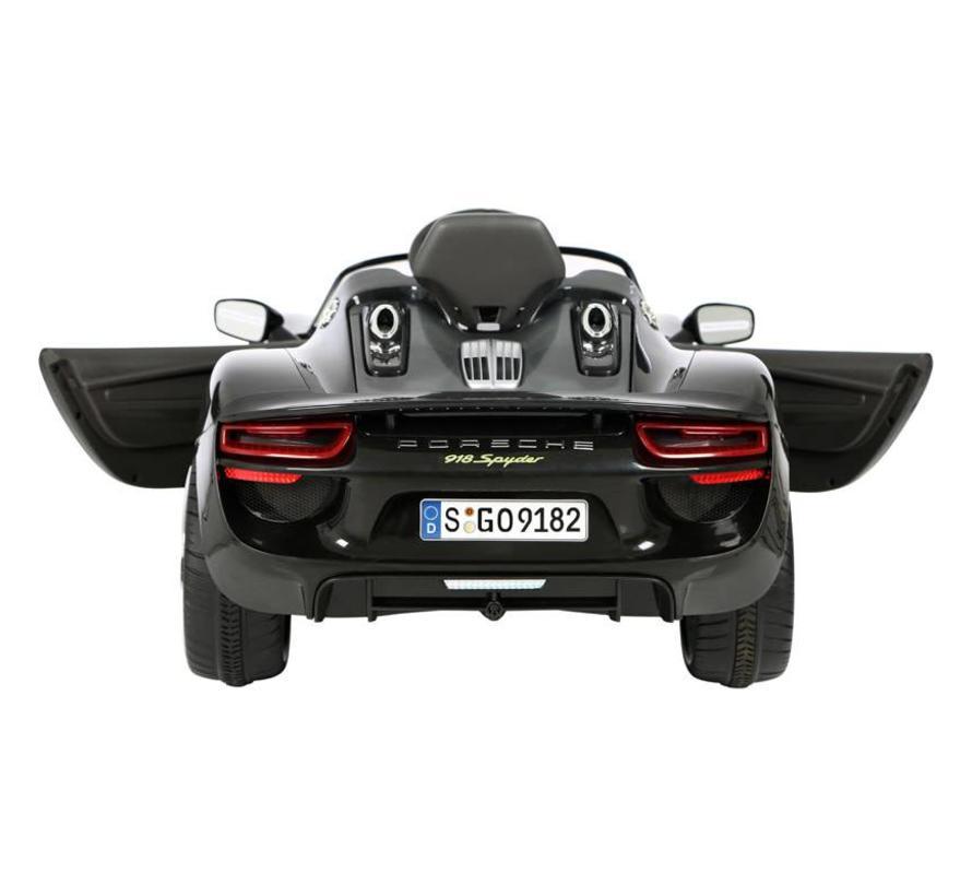 Accu-Auto Porsche 918 Spider Zwart - 12V - incl. MP3 en afstandsbediening - vanaf 3 jaar