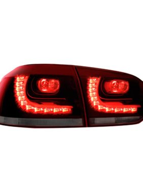 Autostyle Set R-Look LED Achterlichten Volkswagen Golf VI 2008-2012 excl. Variant - Rood/Smoke