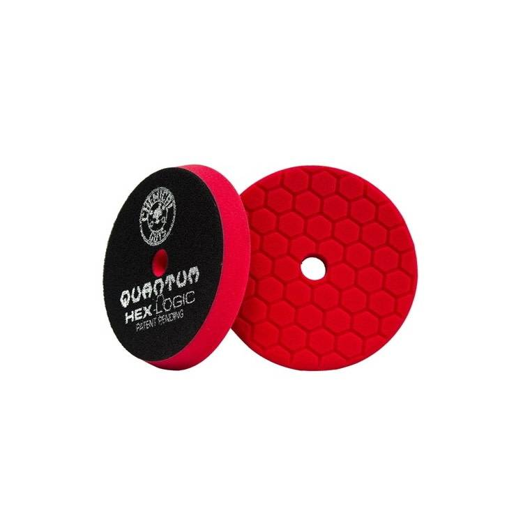 Chemical Guys HEX LOGIC QUANTUM 6,5 INCH RED FINESSE FINISHING PAD