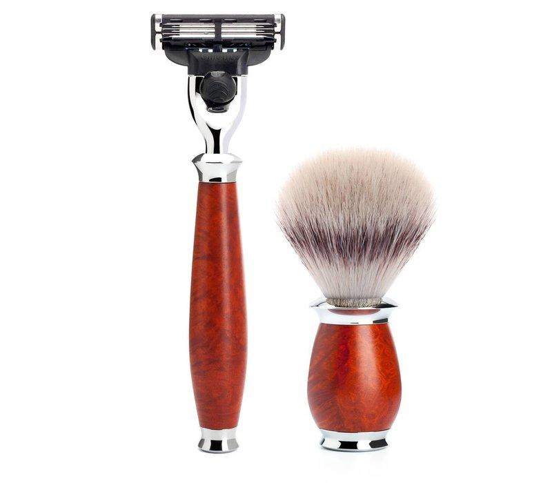 Scheerset Purist 3-delig - Briar hout - Mach3®