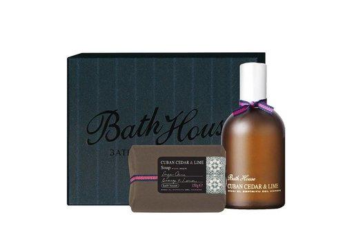 Bath House Cadeauset Cuban Cedar & Lime - Cologne