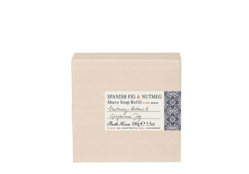 Bath House Scheerzeep Refill 100g Spanish Fig & Nutmeg