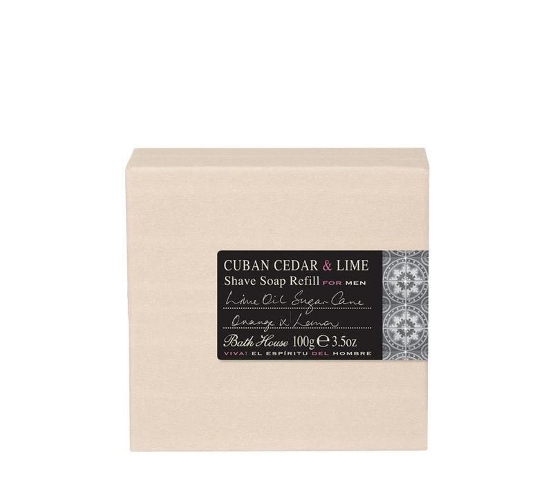 Scheerzeep Refill 100g Cuban Cedar & Lime