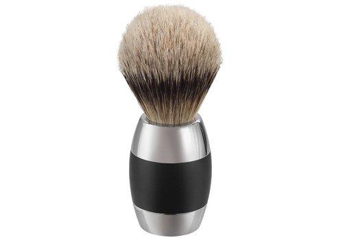 Merkur Scheerkwast Silvertip Dassenhaar- Zwart Chroom