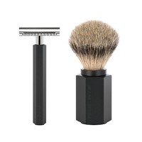 Scheerset Hexagon - Graphite - Saf.Razor - Dashaar