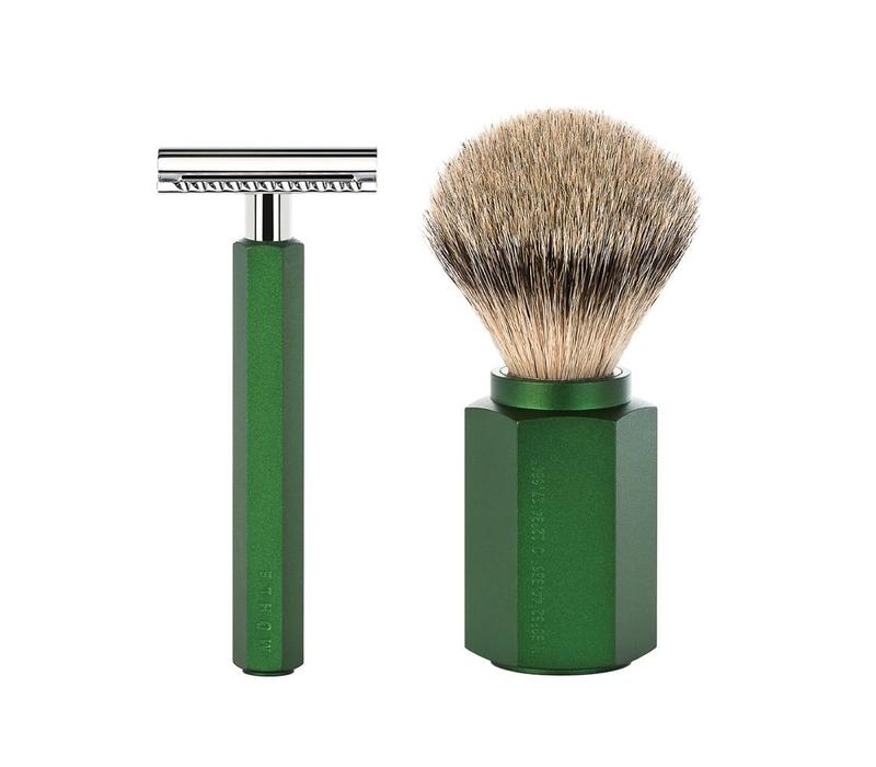 Scheerset Hexagon - Forest - Saf.Razor - Dashaar