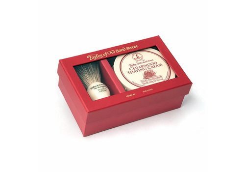 Taylor of Old Bond Street Giftbox scheerkwast en scheercrème Cedarwood