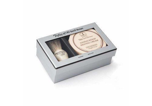 Taylor of Old Bond Street Giftbox scheerkwast en scheercrème Sandalwood