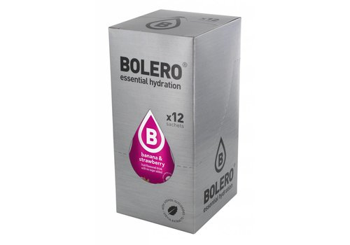 BOLERO Banana & Strawberry 12 sachets with Stevia
