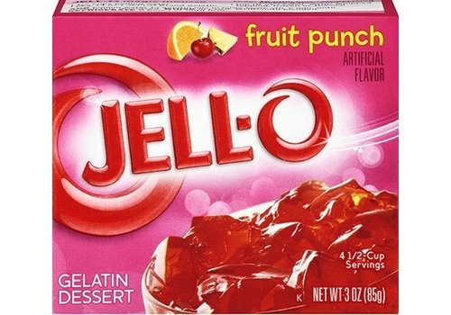 JELL-O FRUIT PUNCH GELATIN 3oz (85g)