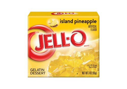 JELL-O PINEAPPLE GELATIN 3oz (85g)