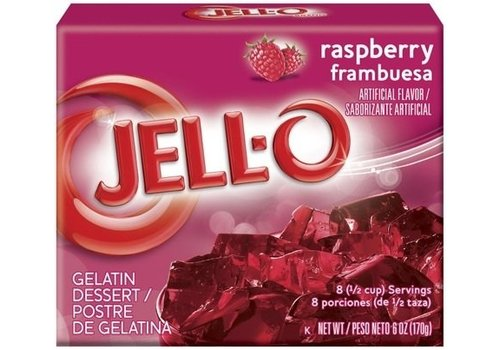 JELL-O RASPBERRY GELATIN 3oz (85g)