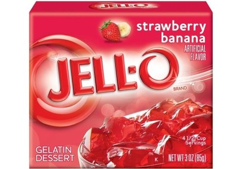 JELL-O STRAWBERRY BANANA GELATIN 3oz (85g)