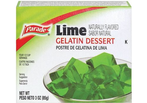 PARADE GELATIN LIME 3oz (85g)