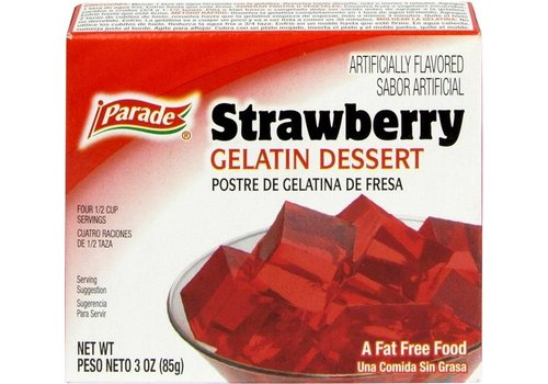 PARADE GELATIN STRAWBERRY 3oz (85g)