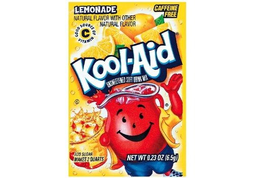 KOOL-AID LEMONADE UNSWEETENED DRINK MIX 2QT