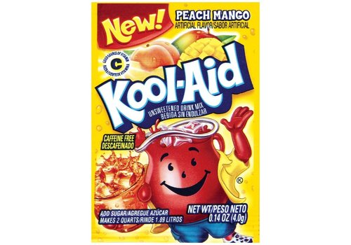 KOOL-AID PEACH/MANGO UNSWEETENED DRINK MIX 2QT